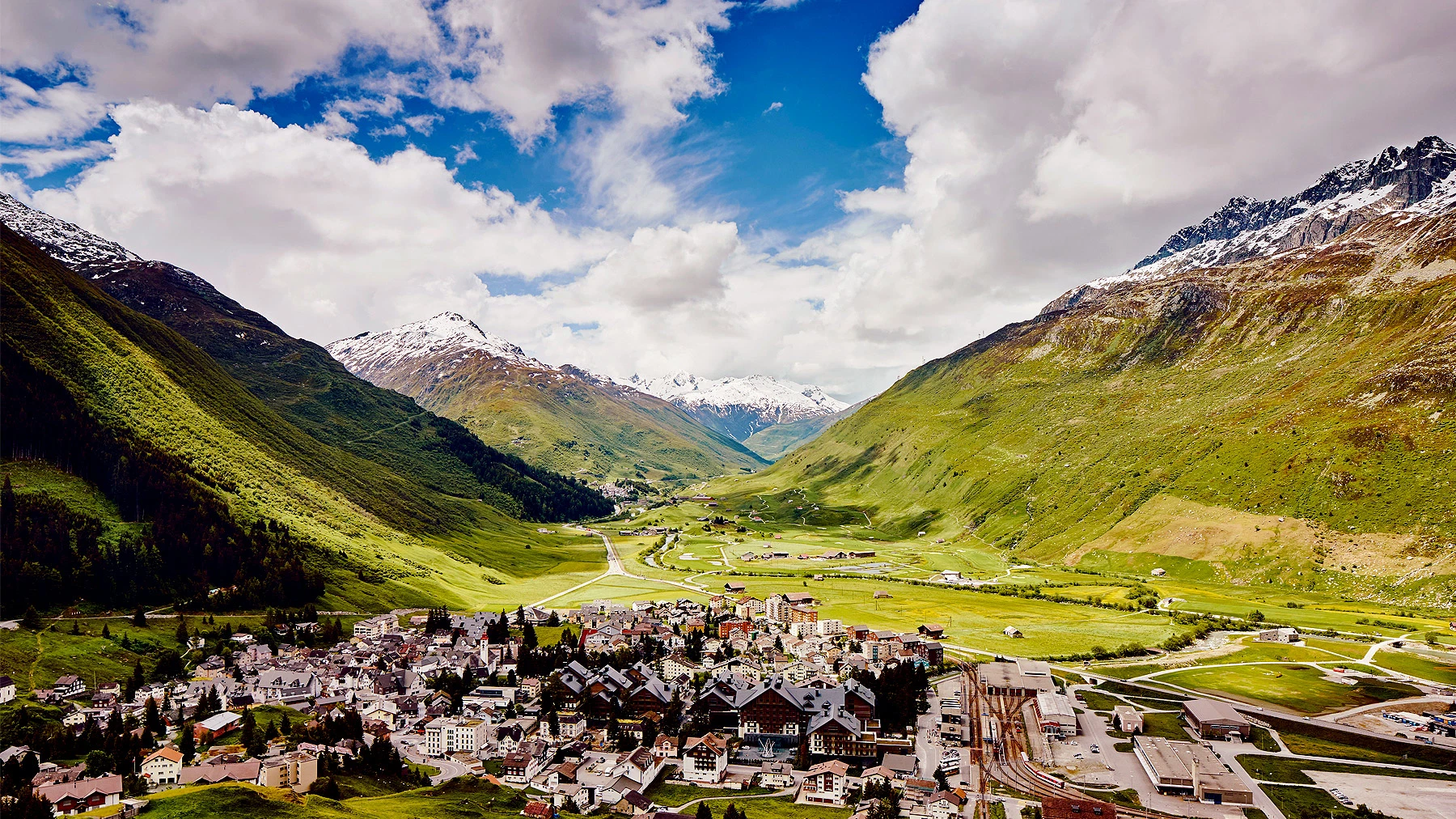 Andermatt mountain view