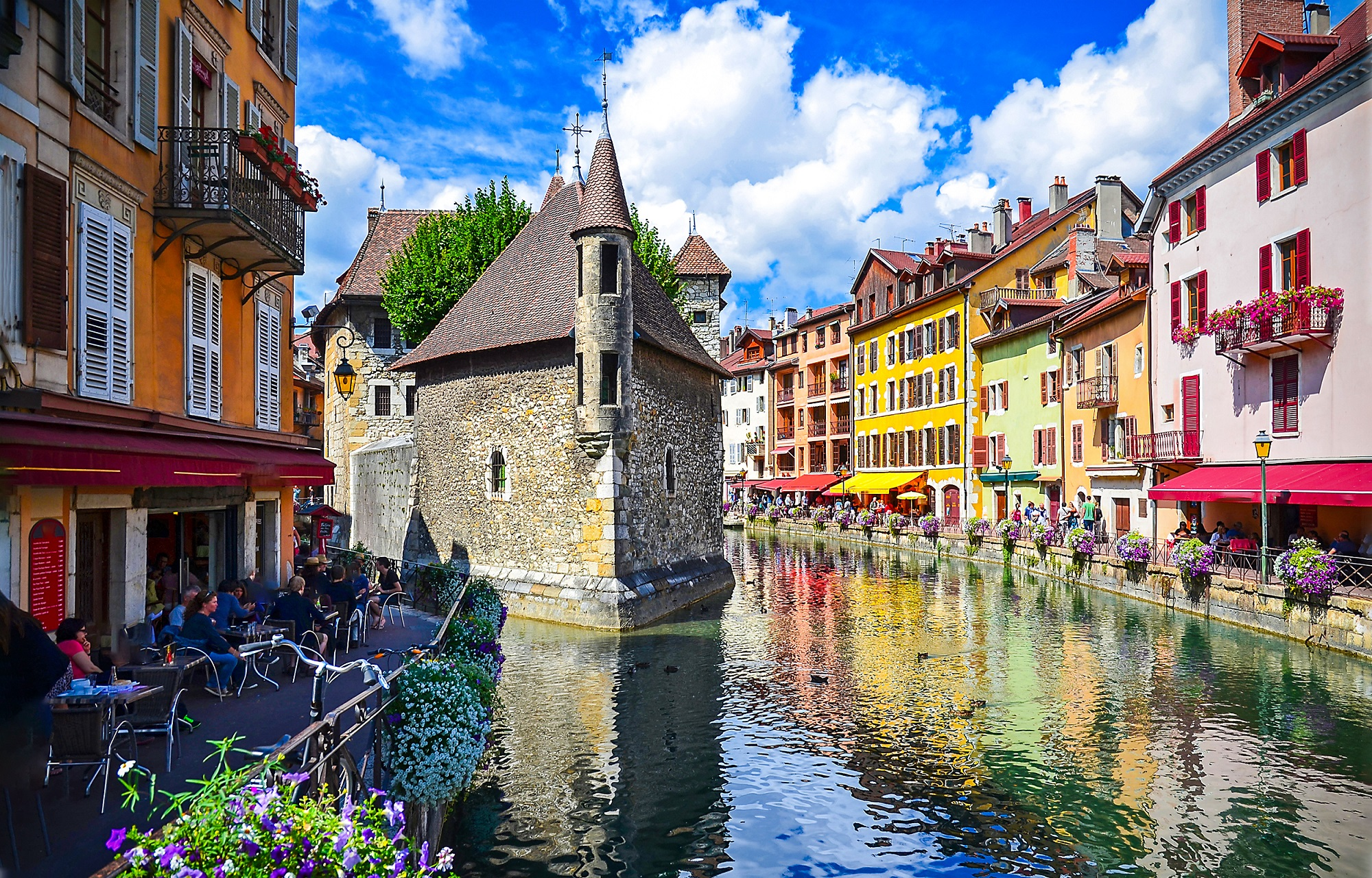 Annecy river view