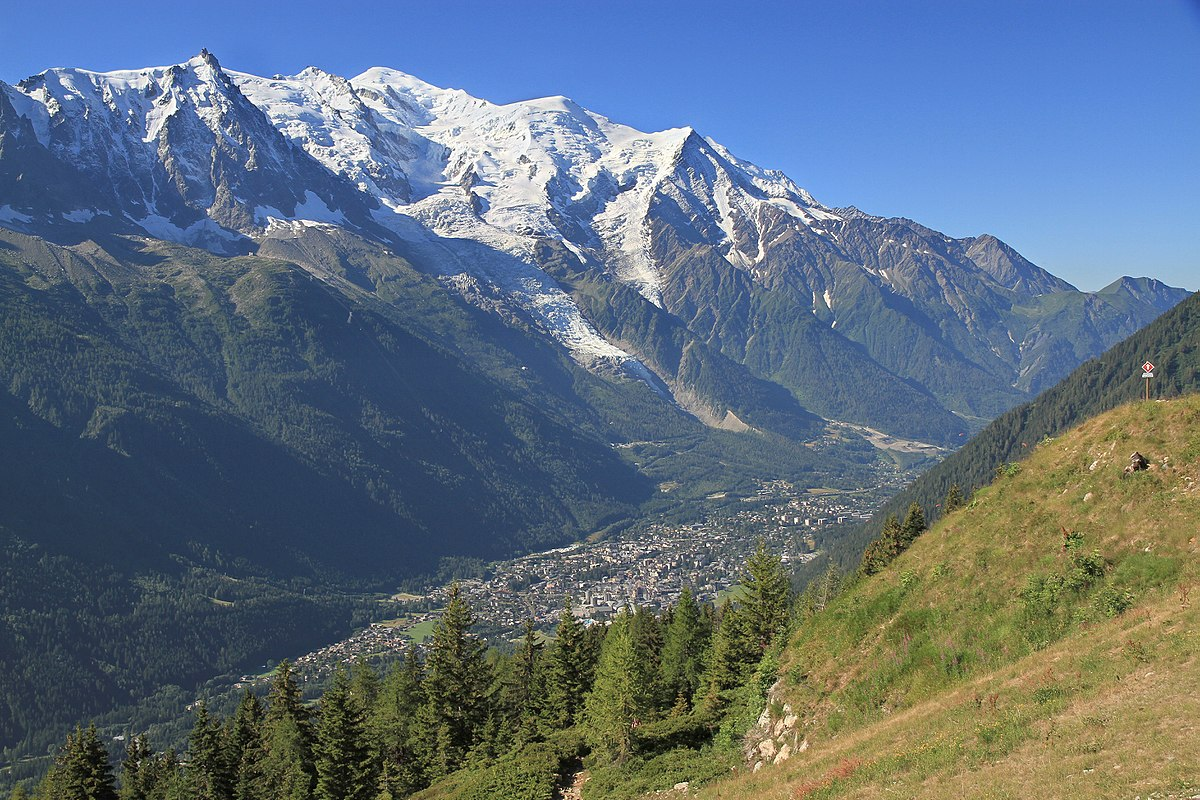 Chamonix mountain view