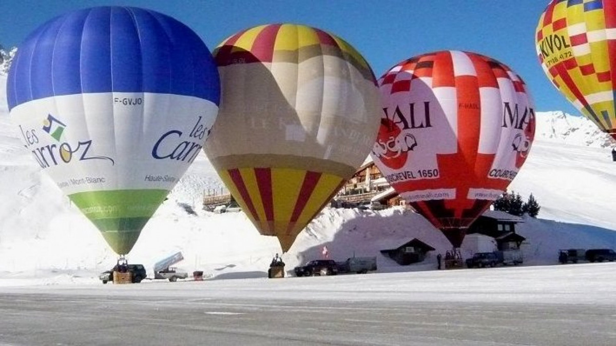 Courchevel hot air balloon