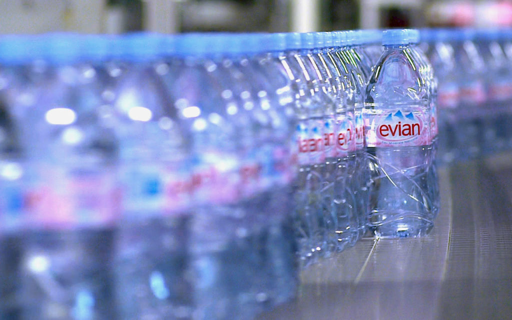 Evian water packing plant