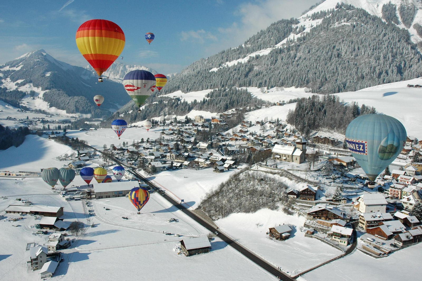Gstaad hot air balloon trips